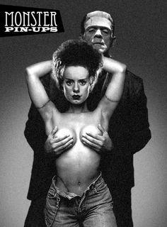 Monster Pin-up girl - Frankenstein Frankenstein's Monster, Monster Movie, Horror Monsters, Gothabilly, Famous Monsters, Cinema, Bride Of Frankenstein, Classic Monsters, Psychobilly