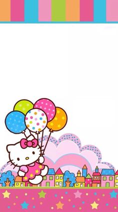Hello Kitty Art, Hello Kitty Themes, Hello Kitty Pictures, Sanrio Hello Kitty, Hello Kitty Birthday Theme, Happy Birthday Logo, Hello Kitty Birthday Invitations, Hello Kitty Iphone Wallpaper, Hello Kitty Backgrounds