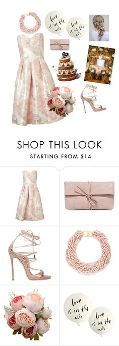 """""""Love is in the air"""" by anne-vg ❤ liked on Polyvore featuring Miss Selfridge, LULUS, Dsquared2, Kenneth Jay Lane and Kate Spade"""