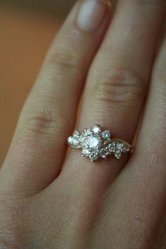 Flower, vingage engagement ring
