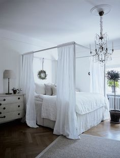 # White on white # Scandinavian style# chandelier