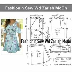 Stylish and comfortable dress. Long Dress Patterns, Dress Sewing Patterns, Sewing Patterns Free, Clothing Patterns, Sewing Clothes, Diy Clothes, Make Your Own Clothes, Sewing Lessons, Striped Fabrics