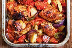 Pollo Peperoni e Patate Arrosto