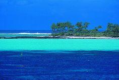 Une plage de l'île Maurice vue de la mer