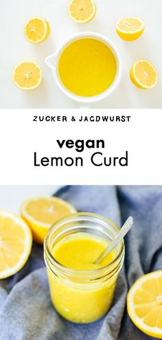 Vegan & Easy Lemon Curd #lemoncurd #breakfast #veganfood
