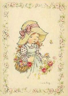 ... Sarah Key, Sweet Pic, Holly Hobbie, Australian Artists, Illustrations, Cute Illustration, Vintage Cards, Vintage Children, Clipart