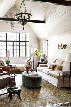 24 Excellent Clean Eclectic Living Room That Are Simply Awesome 24 Excellent …, – Indian Living Rooms Southern Living Rooms, Southern Cottage, Indian Living Rooms, Eclectic Living Room, Coastal Living Rooms, Living Room White, Transitional Living Rooms, Transitional House, Chic Living Room