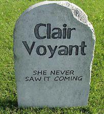"Halloween 'Clair Voyant' tombstone prop decoration 24""x16""x2"""