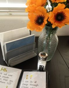 I use a 3 tiered file on our dining table for napkins and small photo albums that have my kids Bible verses in them. Bible Verses For Kids, Bible For Kids, Small Photo Albums, Memory Verse, Napkins, Dining Table, Faith, Diy, Bible Verses For Children
