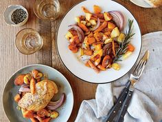 Learn how to make Mustard-Glazed Chicken with Roasted Vegetables . MyRecipes has 70,000+ tested recipes and videos to help you be a better cook