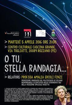 5 aprile 2016 - Seminario: O tu, stella randagia. Relatore: Prof.ssa Amalia Ercoli Finzi