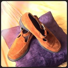 "Selling this ""BACK TO SCHOOL HUSH PUPPIES*****. Brown Suede"" in my Poshmark closet! My username is: lghteyez. #shopmycloset #poshmark #fashion #shopping #style #forsale #Hush Puppies #Shoes"