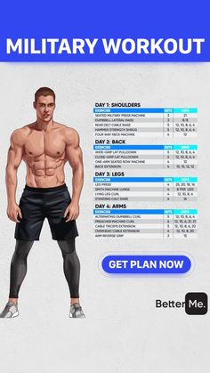 Combine this Military Workout with the Ultimate Military Grade and 100 Legal Dianabol Alternative for Best Results without Side Effects, military workout Gym Workout Chart, Workout Days, Gym Workout Tips, Workout Splits, Workout Schedule For Men, Push Up Workout, Weekly Workout Plans, Butt Workout, Sport Fitness