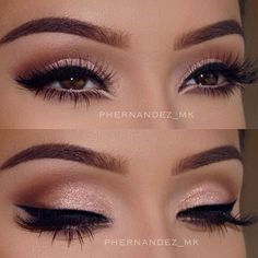 Eye makeup can easily complement your beauty and make you look and feel stunning. Find out the correct way to use make-up so that you can show off your eyes and impress. Learn the top tips for applying make-up to your eyes. Makeup Goals, Makeup Inspo, Makeup Geek, Makeup Addict, Cat Eye Makeup, Beauty Makeup, Beauty Tips, Almond Eye Makeup, Sexy Eye Makeup