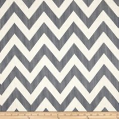 Chevron Navy Blue and White Valance Magnolia by trottersweetpeas