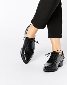 ASOS MERCURY Lace Up Pointed Shoes
