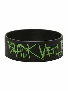 Awesome Black Veil Brides bracelet from Hot Topic Rubber Bracelets, Cute Bracelets, Bangle Bracelets, Necklaces, Emo Jewelry, Black Jewelry, Bridal Bangles, Bridal Jewelry, Screamo Bands
