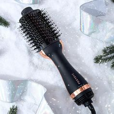 This hair dryer and brush combo gives you the perfect blow out without ever needing to step foot inside a salon. It helps detangle, dry, and style hair while adding gorgeous body and shine in only half the time Hair Tool Organizer, Hair Supplies, Black Hair Care, Hair Styler, Gorgeous Body, Dry Brushing, Hair Tools, Hair And Nails, Natural Hair Styles