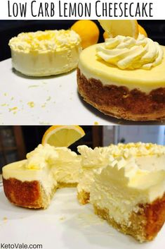 Low Carb Lemon Cheesecake - The Best 11 Keto Dessert Recipes! - Low Carb Lemon Cheesecake – The Best 11 Keto Dessert Recipes! Keto Desserts, Keto Friendly Desserts, Dessert Recipes, Baking Desserts, Breakfast Recipes, Lemon Cheesecake Recipes, Low Carb Cheesecake, Lemon Recipes, Cheesecake Crust