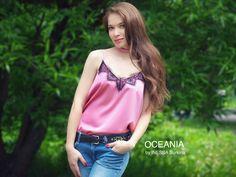 """www.oceania5.ru Шёлковый топ от российского бренда стильной одежды """"Oceania"""""""