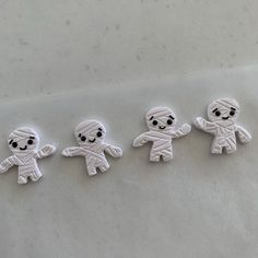 Polymer clay mummy earrings. We celebrate Halloween all year long, and if you love a good pair of Halloween earrings these cute mummies are for you. 😉 Available in either studs or dangles these cute earrings are great as a gift or for yourself. I use sterling silver hooks and hypoallergenic posts so the most sensitive ears are happy.