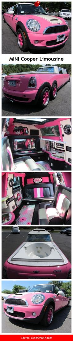 Mini Cooper Limousine - this reminds me soo much of the polly pocket limo I had as a kid!