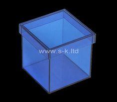 Custom square blue acrylic wedding gift box, custom plexiglass box Plastic Box Storage, Food Storage Containers, Acrylic Sheets, Acrylic Box, Wedding Gift Boxes, Wedding Gifts, Acrylic Display Case, Box Supplier, Box Manufacturers