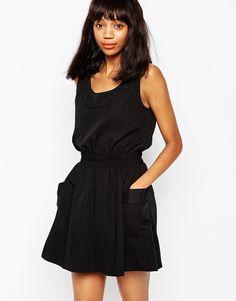 Image 1 ofMonki Waist Detail Utility Dress