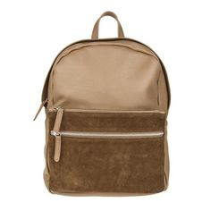 Paco Suede & Leather Backpack Beige | Park House