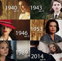 Peggy through the years, being marvelous in each one :3
