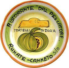 Runate-Canneto sull'Oglio - Ristorante Dal Pescatore: Tortelli di zucca (apr. 81 - nov. 89)