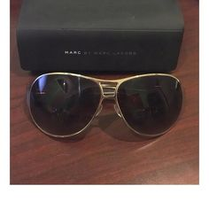 Marc by Marc Jacobs Sunglasses Brown Gold Trim Purchased from Nordstrom. Superior quality. Great look. Bundle to save. Authentic and comes with original case. Designer shades / sunglasses. Marc by Marc Jacobs Accessories Sunglasses