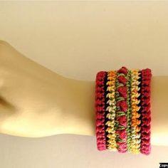 Crochet Beaded Bracelet - Tutorial ❥ 4U // hf