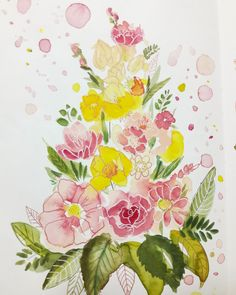 aquarell mixed media watercolor flowers Art Flowers, Watercolor Flowers, Flower Art, Mixed Media, Watercolors, Watercolor, Flowers, Art Floral, Floral Watercolor