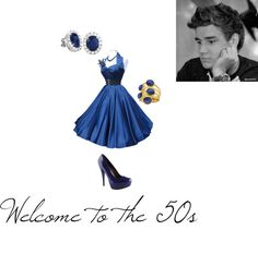 """welcome to the 50s"" by guardgurl227 ❤ liked on Polyvore"