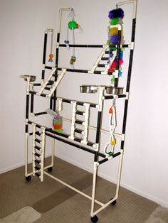 how to make pvc bird play stand - Google Search