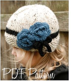 Knitting PATTERN-The Chaylie Cloche' (Toddler, Child, Adult sizes)