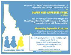 Diaper Need Awareness Week in Idaho!