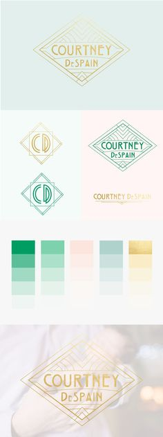 Art Deco Brand and Website Design for Photographer, Courtney DeSpain. #branding #logodesign #photographer #branding