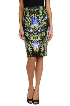 """Givenchy Knee Length Skirt, $775;  target=""""new"""">yoox.com   - ELLE.com"""