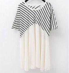 Amazon.co.jp: バイカラー ボーダーロング半袖Tシャツ レディースファッション: 服&ファッション小物通販