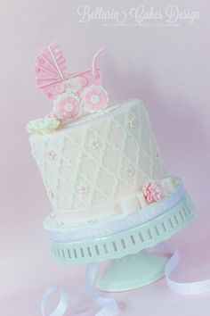 Baby Shower Cake Baby Shower Sweets, Baby Shower Cupcakes, Shower Cakes, Beautiful Cake Pictures, Beautiful Cakes, Amazing Cakes, Baby Cupcake, Cupcake Cakes, Cake Fondant