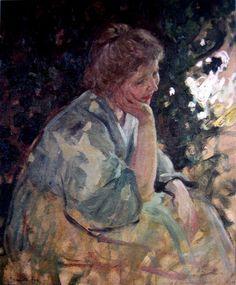 Emanuel Phillips Fox - Woman in a Garden