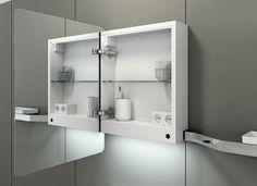 #mirror cabinet. Vase collection by Inbani. #bathroom #design