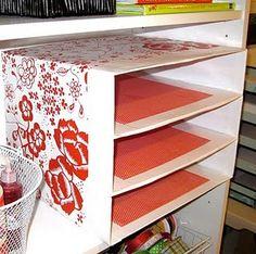 DIY Paper Storage Boxes