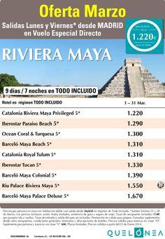 Oferta Marzo a Riviera Maya desde 1.220€ Tax incluidas. Salidas Lunes y Viernes ultimo minuto - http://zocotours.com/oferta-marzo-a-riviera-maya-desde-1-220e-tax-incluidas-salidas-lunes-y-viernes-ultimo-minuto/