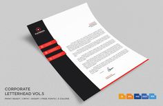 Corporate Letterhead 5 with MS Word by nazdrag on Creative Market