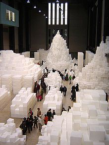 Multimedia Artists: Installation art From Wikipedia, the free encyclopedia Rachel Whiteread, Embankment at Tate Modern, London  Installation art describes an artistic genre of three-dimensional works that are often site-specific and designed to transform the perception of a space. Generally, the term is applied to interior spaces, whereas exterior interventions are often called land art; however, the boundaries between these terms overlap.