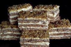 Reteta Desert prajitura cu nuci caramelizate Romanian Desserts, Russian Desserts, Romanian Food, Romanian Recipes, Sweets Recipes, Cake Recipes, Cooking Recipes, Cooking Tips, Krantz Cake