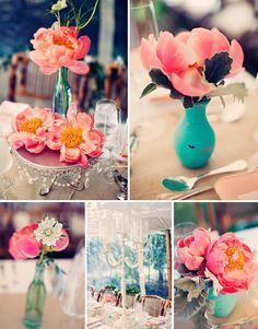 I love how this simple centerpiece is still so elegant